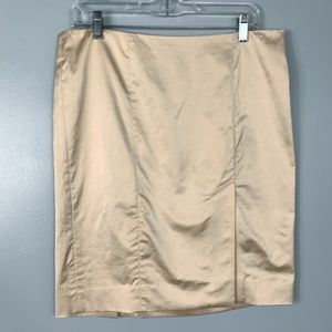 Bebe Champagne Pencil Skirt Size 10